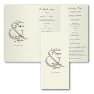 Ampersand Day Wedding Program Icon