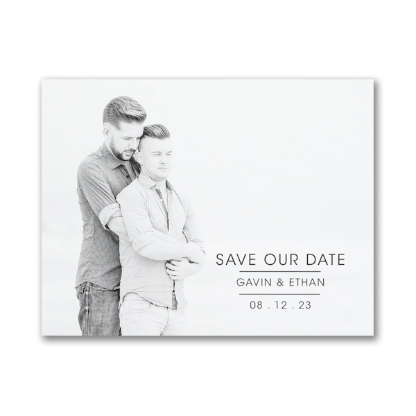 Celebrated Date Small Save the Date Card