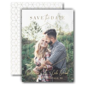 Dimensional Love Save the Date Card Icon