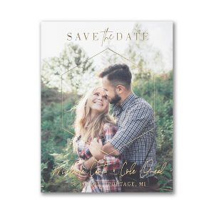 Dimensional Love Small Save the Date Card Icon