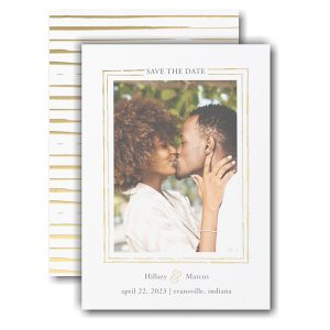 Drawn Lines Save the Date Card Icon
