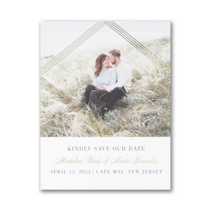 Encompassed Romance Small Save the Date Card Icon
