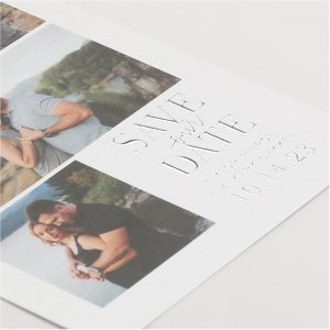 Endearing Collage Save the Date Card alt