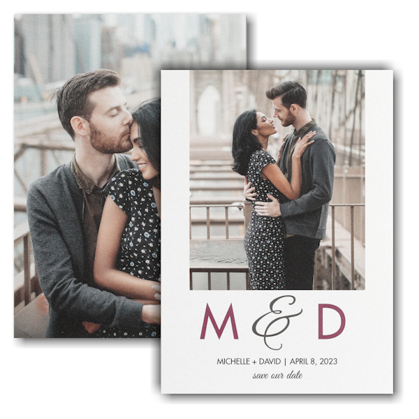 Endless Romance Save the Date Card Icon