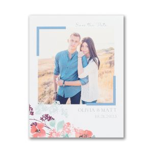 Floral Garden Save the Date Magnet Icon