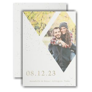 Forever Diamonds Save the Date Card