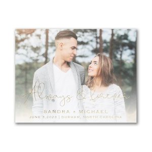Forever Yours Save the Date Card Magnet