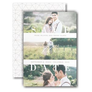 Geometric Love Story Save the Date Card Icon