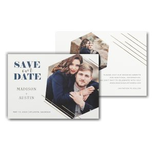 Hexagonal Symmetry Save the Date Card Icon