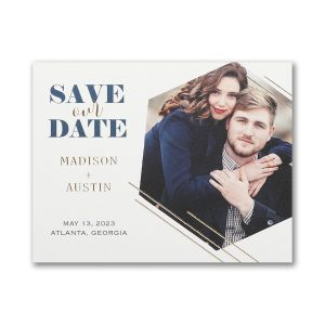 Hexagonal Symmetry Save the Date Magnet Icon