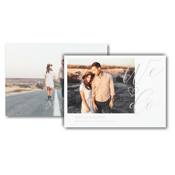 Linked Hearts Save the Date Card