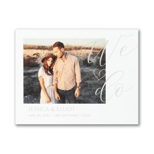 Linked Hearts Small Save the Date Card Icon