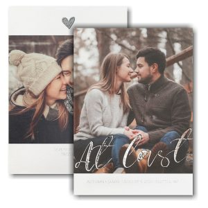 Love at Last Save the Date Card Icon