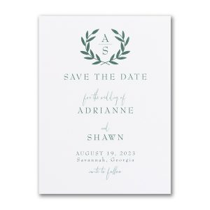Ornate Date Save the Date Card Icon