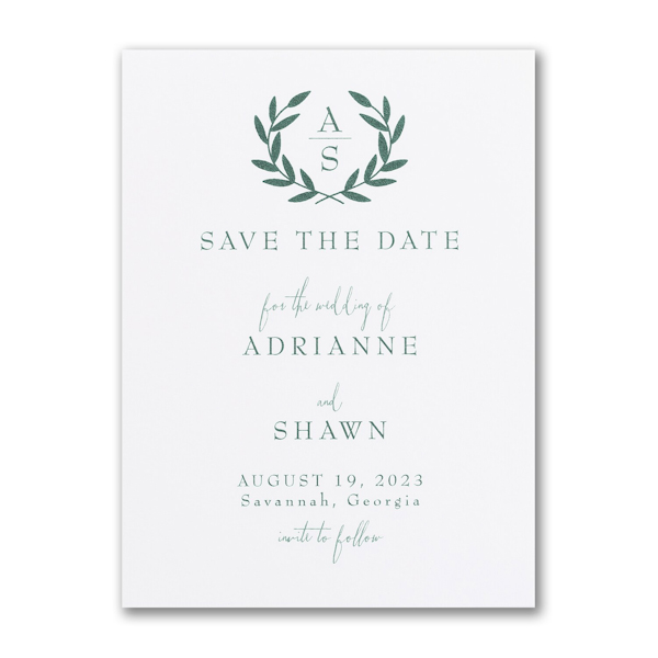 Ornate Date Save the Date Card