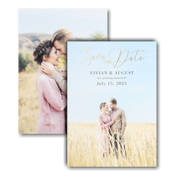 Perfect Portrait Save the Date Card Card