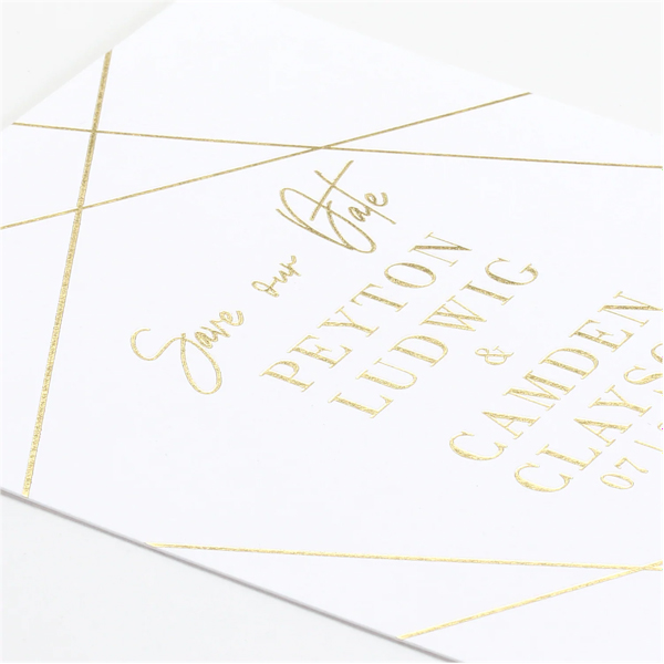 Simply Chic Save the Date Card alt