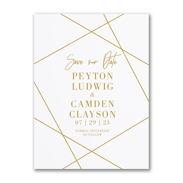Simply Chic Save the Date Card