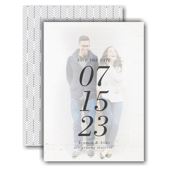 The Big Date Save the Date Card