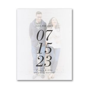 The Big Date Small Save the Date Card Icon