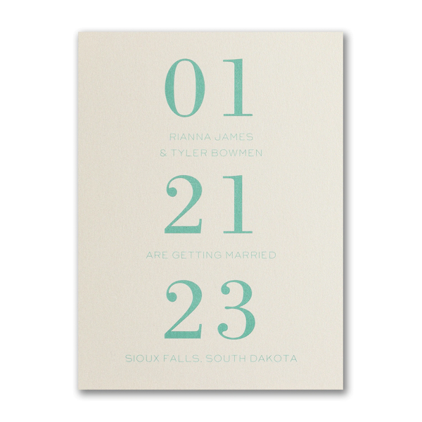 The Big Day is Coming Save the Date Card