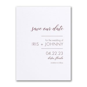Ultimate Love Save the Date Card