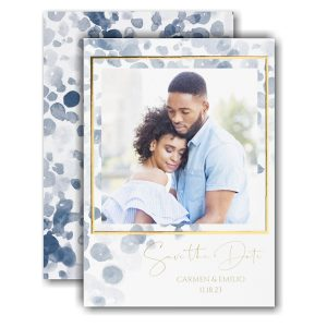 Watercolor Abstract Save the Date Card