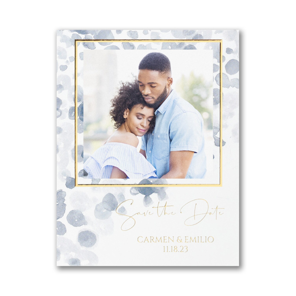 Watercolor Abstract Small Save the Date Card Icon