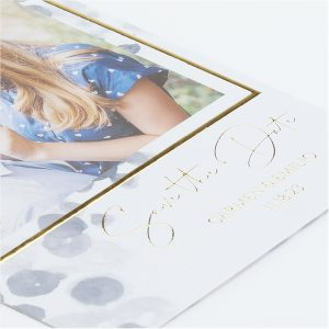 Watercolor Abstract Small Save the Date Card alt