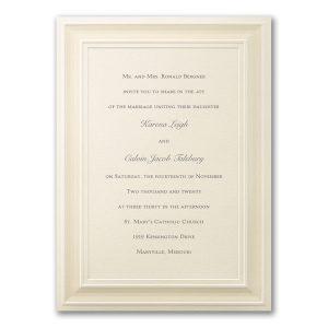 A Royal Frame in Ecru Wedding Invitation Icon