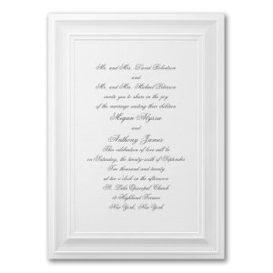 A Royal Frame in White Wedding Invitation Icon