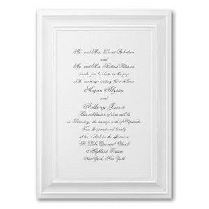 A Royal Frame in White Wedding Invitation Icon