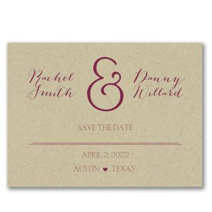 AND the Date Is Save the Date Card Icon