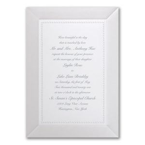Adorned in Pearl White Wedding Invitation Icon