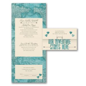 Adventure Starts Here Seal 'n Send Wedding Invitation Icon