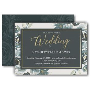 Alluring Roses Wedding Invitation Icon