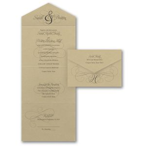 Ampersand Calligraphy Seal 'n Send Wedding Invitation Icon