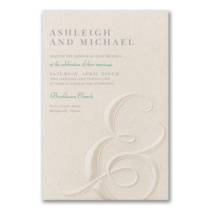 Ampersand Impression in Ecru Wedding Invitation Icon