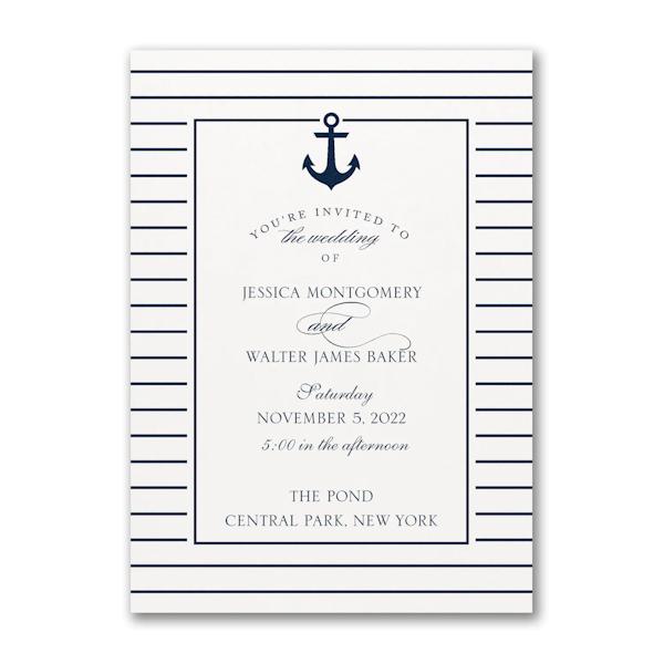 Anchored Love Wedding Invitation