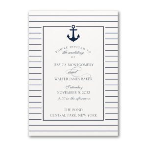 Anchored Love Wedding Invitation Icon