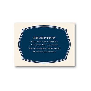 Anchors Aweigh Reception Card