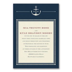 Anchors Aweigh Wedding Invitation Icon