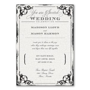 Antique Filigree Frame Wedding Invitation Icon