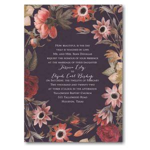 Antique Floral Wedding Invitation Icon