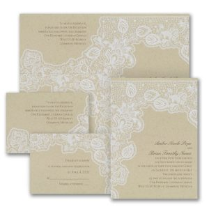 Antique Lace Sep 'n Send Wedding Invitation