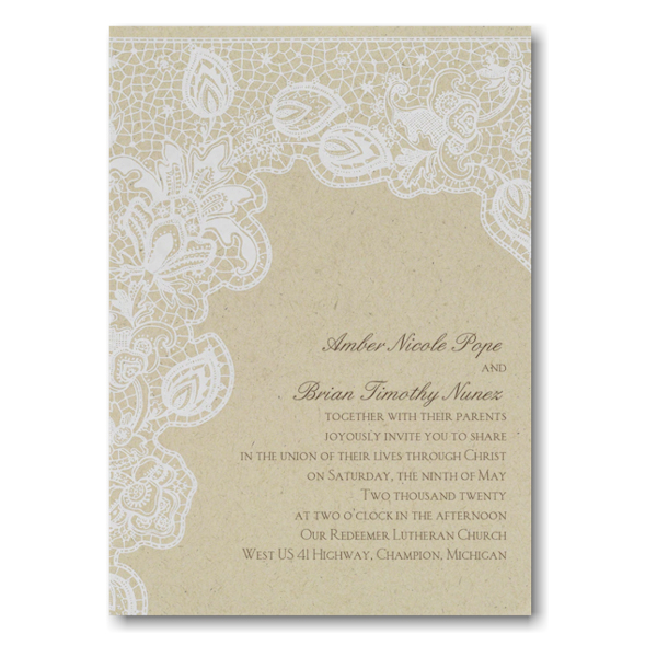 Antique Lace Sep 'n Send Wedding Invitation Icon