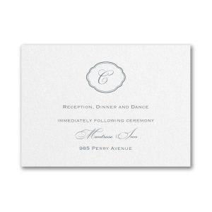 Appealing Elegance Reception Card