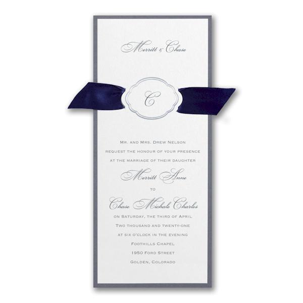 Appealing Elegance Wedding Invitation