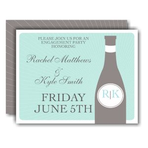 Aqua Border Save the Date Card