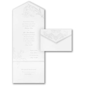 Art Deco Dazzle White Seal 'n Send Wedding Invitation Icon